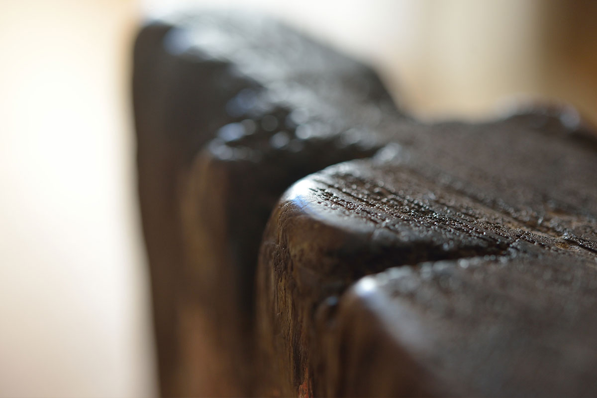 Detail of furniture in the maisonette in Making Waves, St Ives, Cornwall